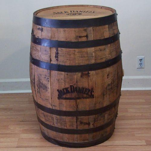 White Whiskey Barrel ~ Rain barrels plastic and oak