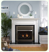 See thru ventless gas fireplace in Fireplace  Accessories