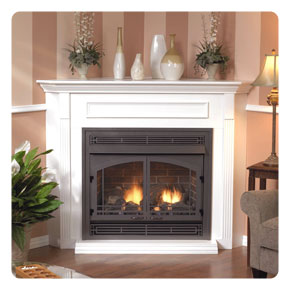 Empire Full Size Ventless Fireplace